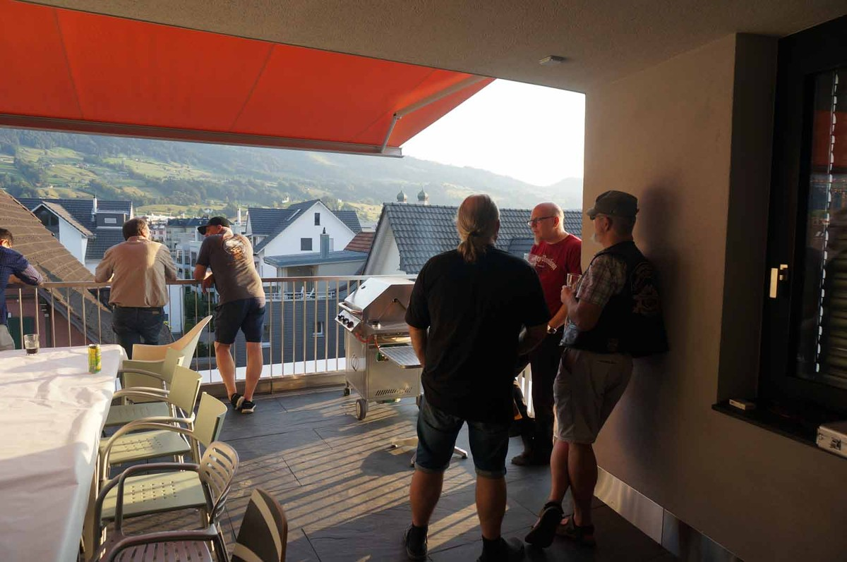 Grillparty bei Walter - HmC - Free Horsemountain Chapter Switzerland